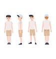 redhead teenage boy teen or teenager wearing cap vector image