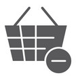 remove from bucket glyph icon shopping and vector image vector image