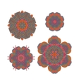 Round ornaments Indian patterns Mandalas vector image
