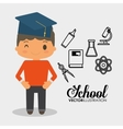 school boy equipment laboratory chemical vector image