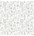 Sea hand drawn hipster seamless pattern over white vector image vector image