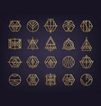 set of abstract geometric logos art deco vector image vector image