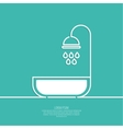 Shower handle with water drops vector image vector image
