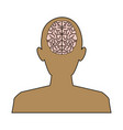 silhouette man brain think idea knowledge vector image vector image