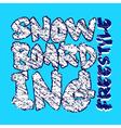 snowboarding blue design vector image