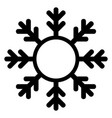 snowflake icon and frame christmas and winter vector image vector image