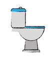 toilet icon image vector image