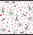 travel france seamless pattern paris city vector image vector image