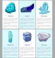 turquoise lazurite rhinestone aquamarine sapphire vector image vector image