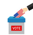 vote 2020 in usa paper ballot and box for vector image