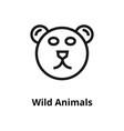 wild animals line icon vector image vector image
