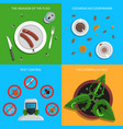 pest concept set vector image