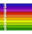 colorful numbered banner vector image