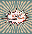 congratulatory banner merry christmas comic vector image