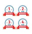 1 2 3 4 years warranty - concept badges design vector image