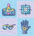 3d eyeglasses reality technology game vector image vector image