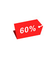 60 discount hang tag template vector image vector image