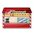 a donut shop vector image vector image