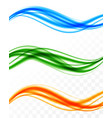 abstract soft colorful wavy lines set vector image vector image