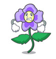 angry pansy flower mascot cartoon vector image
