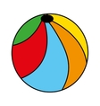 ball balloon plastic icon vector image