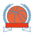 basketball ball emblem vector image vector image