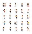 business characters flat icons set vector image vector image