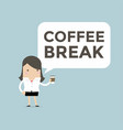 businesswoman coffee break vector image vector image