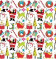 Christmas retro wallpaper vector image vector image