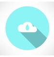 cloud and drop icon vector image vector image