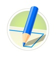 Colour pencil for drawing vector image