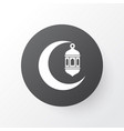 crescent icon symbol premium quality isolated vector image vector image