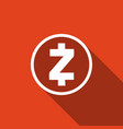 cryptocurrency coin zcash zec icon isolated vector image