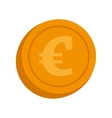 currency euro coin money isolated vector image