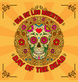 day of the dead dia de los muertos banner vector image