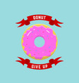 donut give up abstract llustration or logo vector image