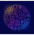 E-mail circular colorful symbol vector image vector image