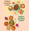 eastern-european cuisine meat lunch icon set vector image vector image
