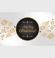 elegant luxurious greeting card for christmas and vector image vector image