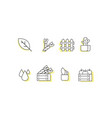 farm line icon sets vector image vector image