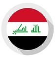 flag iraq round shape icon on white background vector image