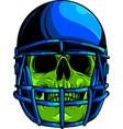 football player skull vector image