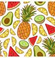 fruits seamless pattern bright summer texture for vector image vector image