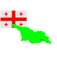 georgian map and flag set vector image vector image