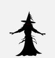 halloween evil witch silhouette vector image vector image
