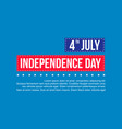 happy independence day theme background vector image vector image