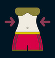 Icon in flat design woman body diet
