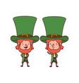 leprechauns standing avatar character vector image