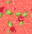 living coral floral pattern vector image
