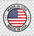 made in united states stamp in grunge style vector image
